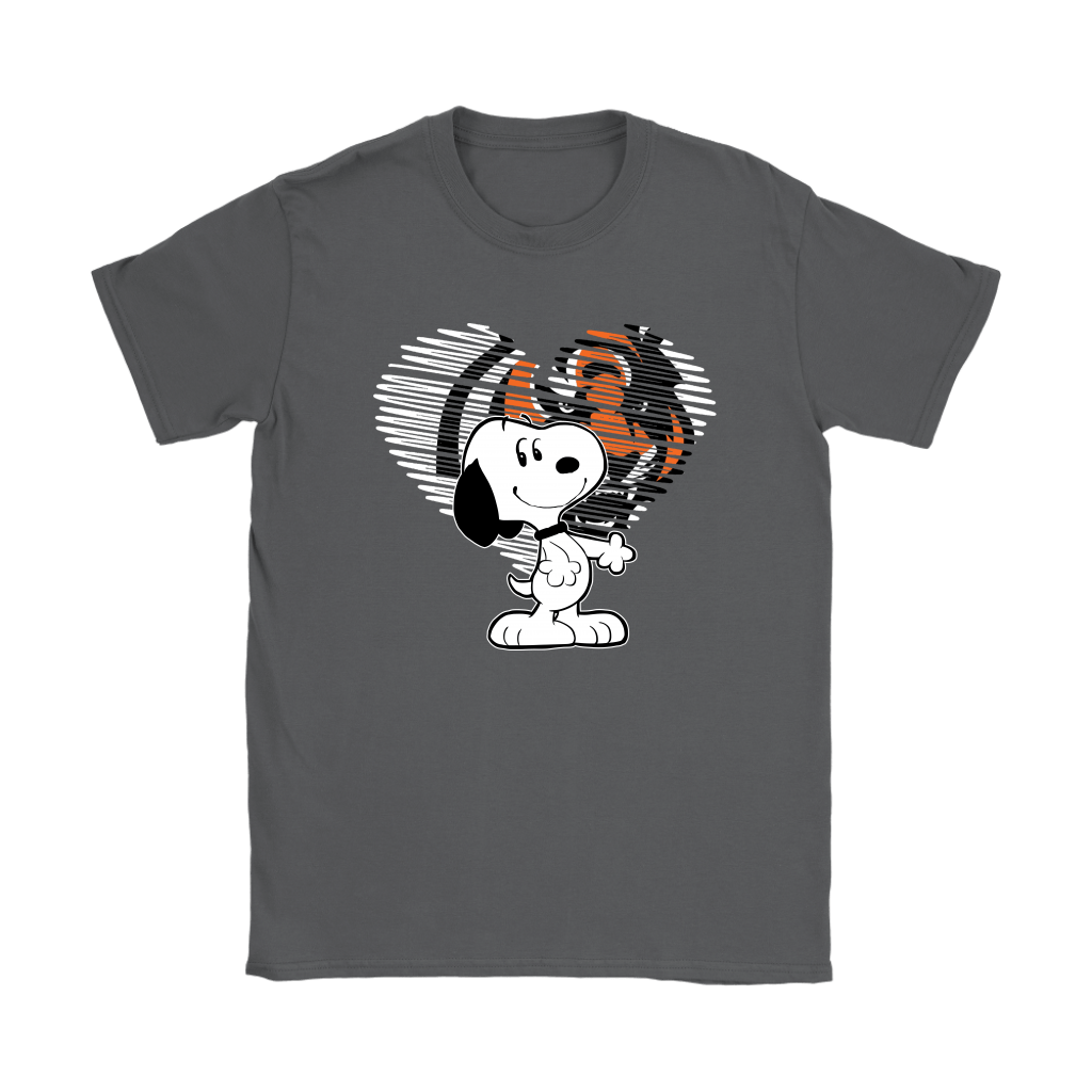 I Love Cincinnati Bengals Snoopy In My Heart NFL Shirts 8