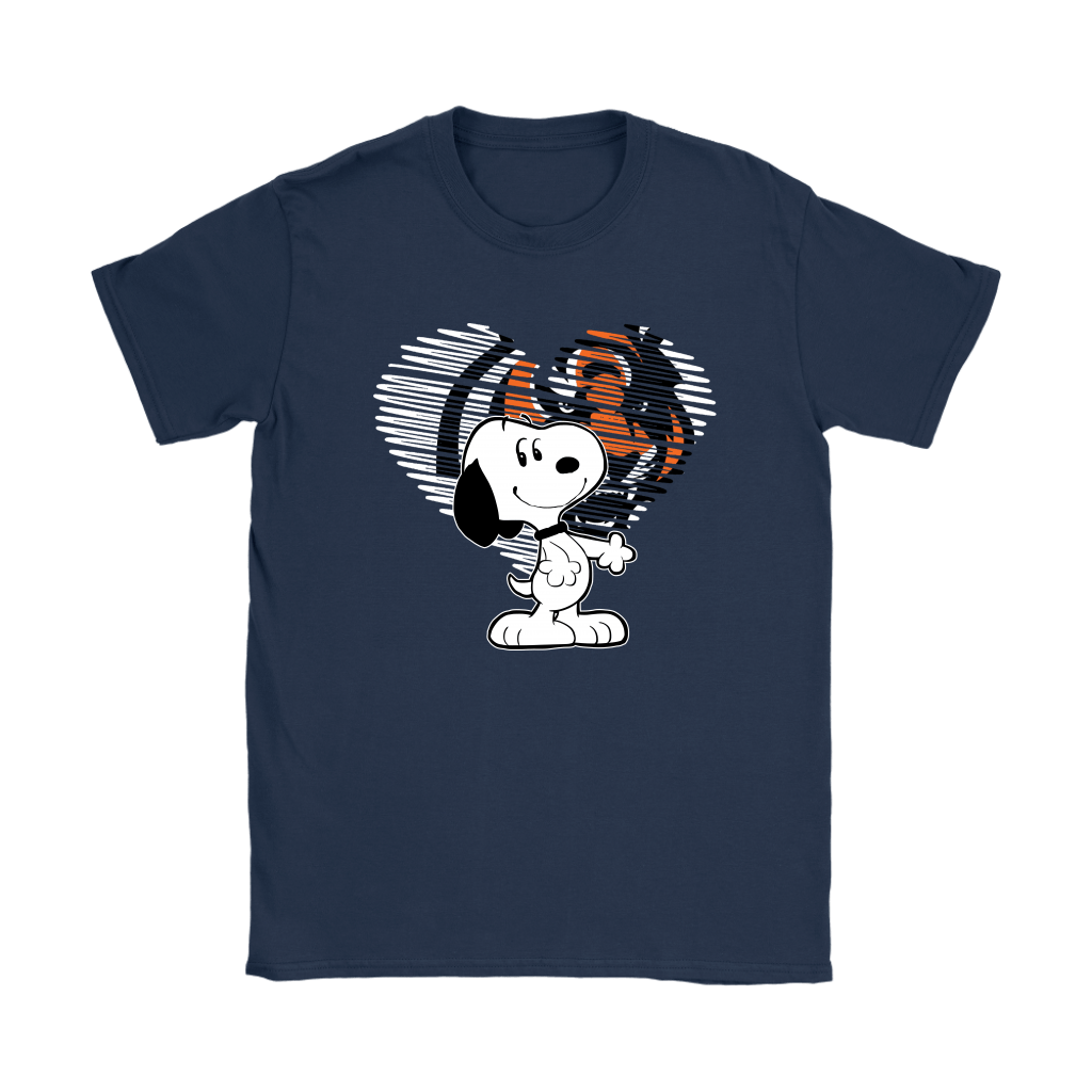 I Love Cincinnati Bengals Snoopy In My Heart NFL Shirts 9