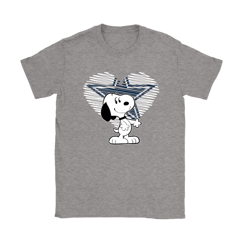 I Love Dallas Cowboys Snoopy In My Heart NFL Shirts 12