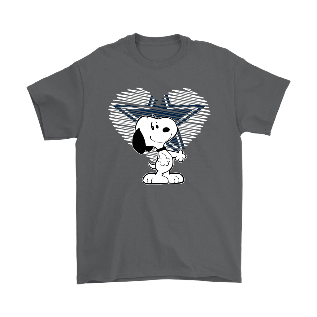 I Love Dallas Cowboys Snoopy In My Heart NFL Shirts 2