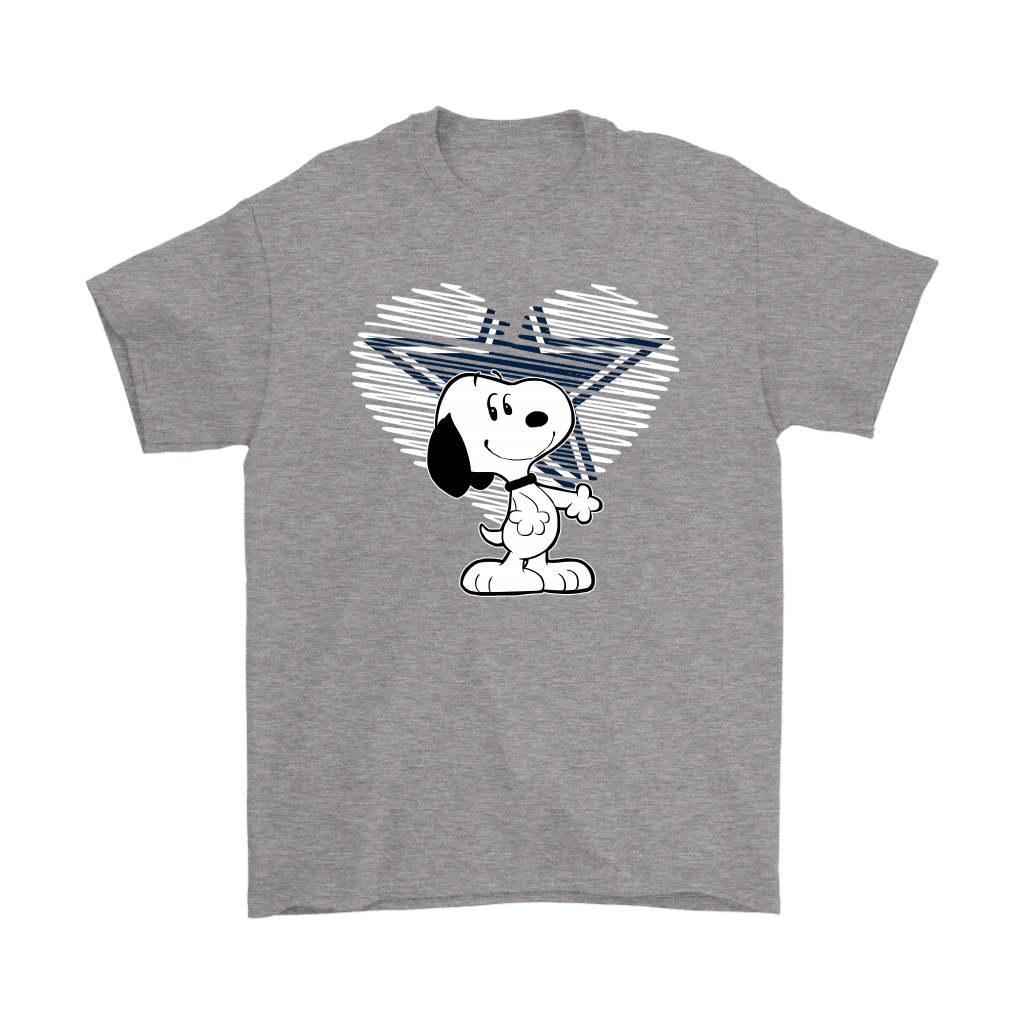 I Love Dallas Cowboys Snoopy In My Heart NFL Shirts 6