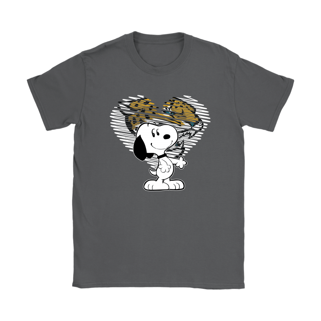 I Love Jacksonville Jaguars Snoopy In My Heart NFL Shirts 8