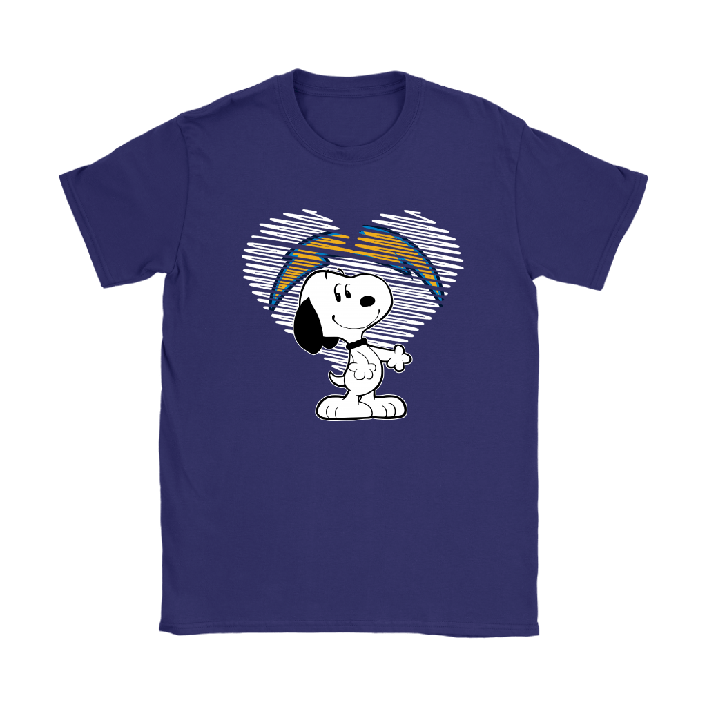 I Love Los Angeles Chargers Snoopy In My Heart NFL Shirts 10