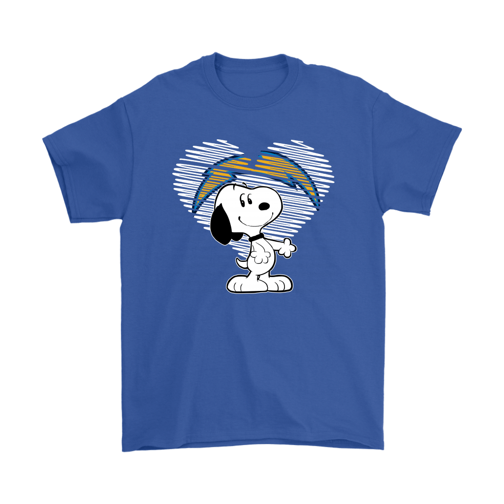 I Love Los Angeles Chargers Snoopy In My Heart NFL Shirts 5