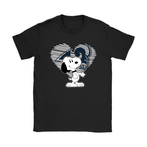 I Love Los Angeles Rams Snoopy In My Heart NFL Shirts 7