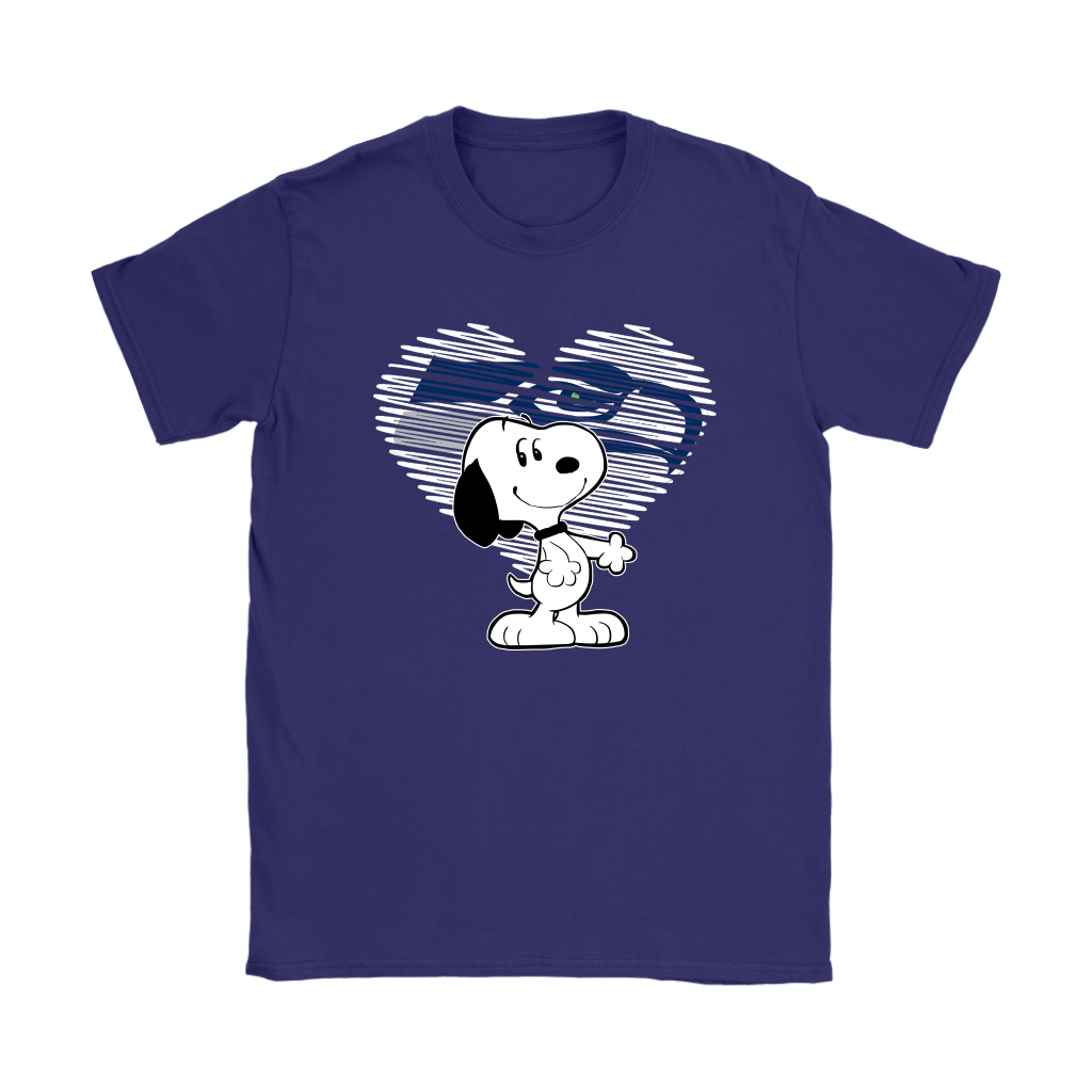 I Love Seattle Seahawks Snoopy In My Heart NFL Shirts 10