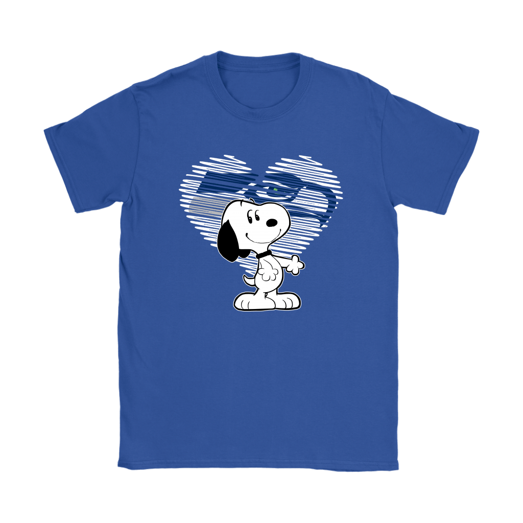 I Love Seattle Seahawks Snoopy In My Heart NFL Shirts 22