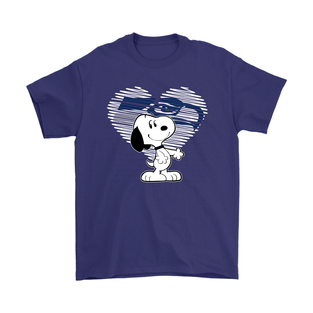 I Love Seattle Seahawks Snoopy In My Heart NFL Shirts 4