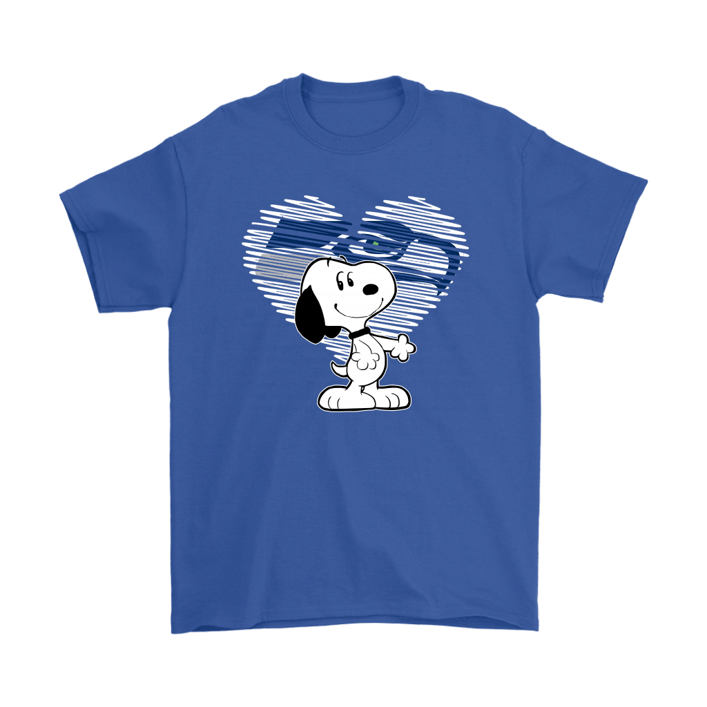 I Love Seattle Seahawks Snoopy In My Heart NFL Shirts 5