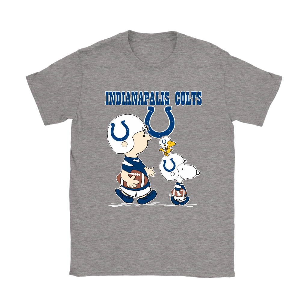 Indianapolis Colts Let's Play Football Together Snoopy NFL Shirts 12