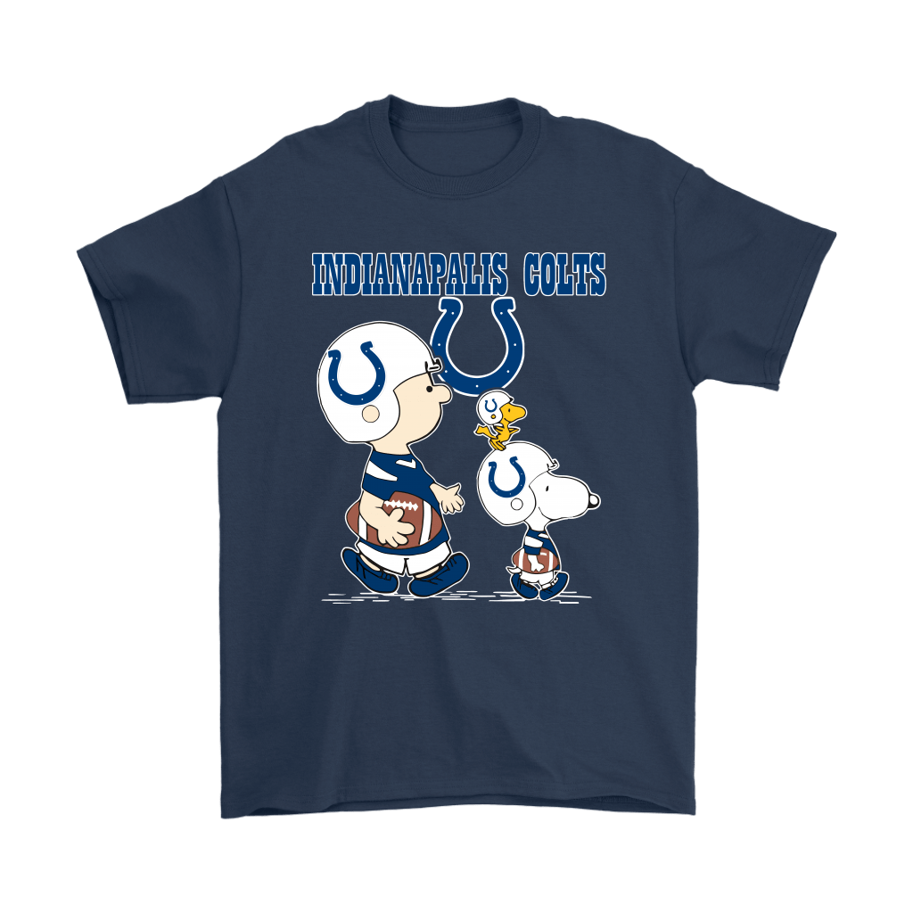 Indianapolis Colts Let's Play Football Together Snoopy NFL Shirts 3