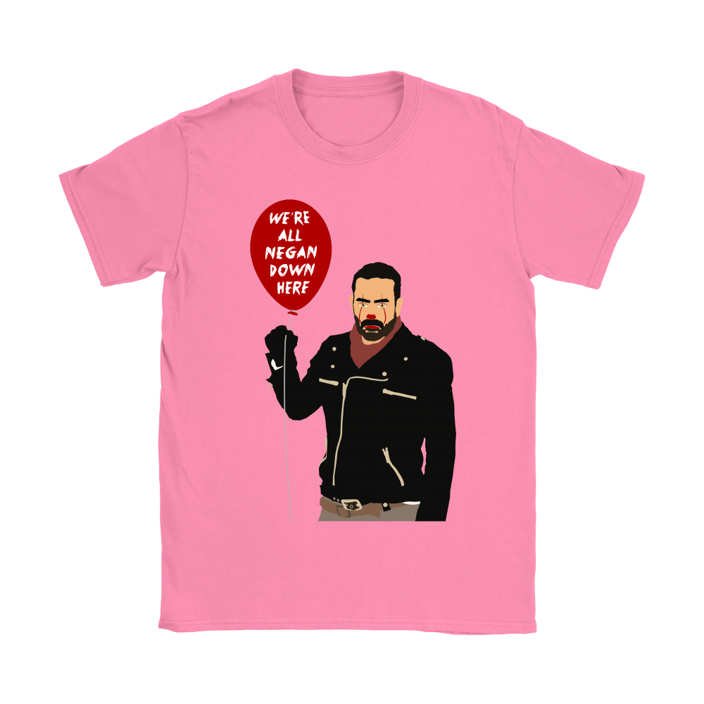 IT Pennywise And Walking Dead Parody Negan Down Here Stephen Shirts 9
