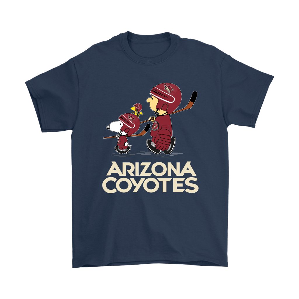 Let's Play Arizona Coyotes Ice Hockey Snoopy NHL Shirts 3
