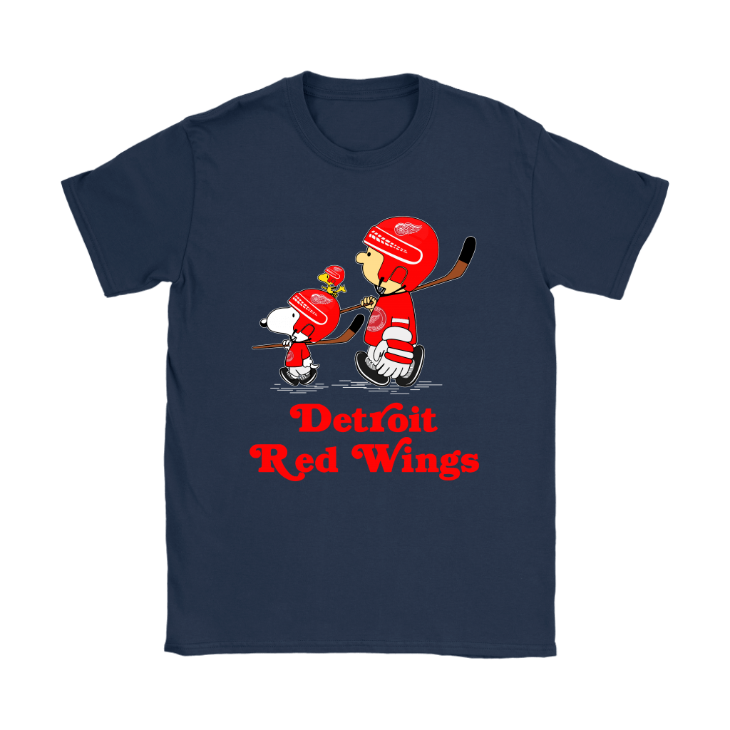 Let's Play Detroit Red Wings Ice Hockey Snoopy NHL Shirts 9