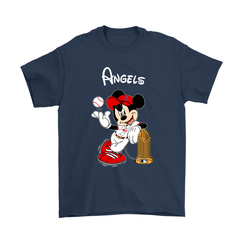 Los Angeles Angels Mickey Taking The Trophy MLB 2018 Shirts 3
