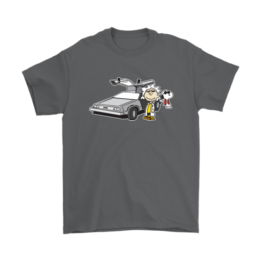 Doc Brown Back To Future Mashup Snoopy Shirts 2