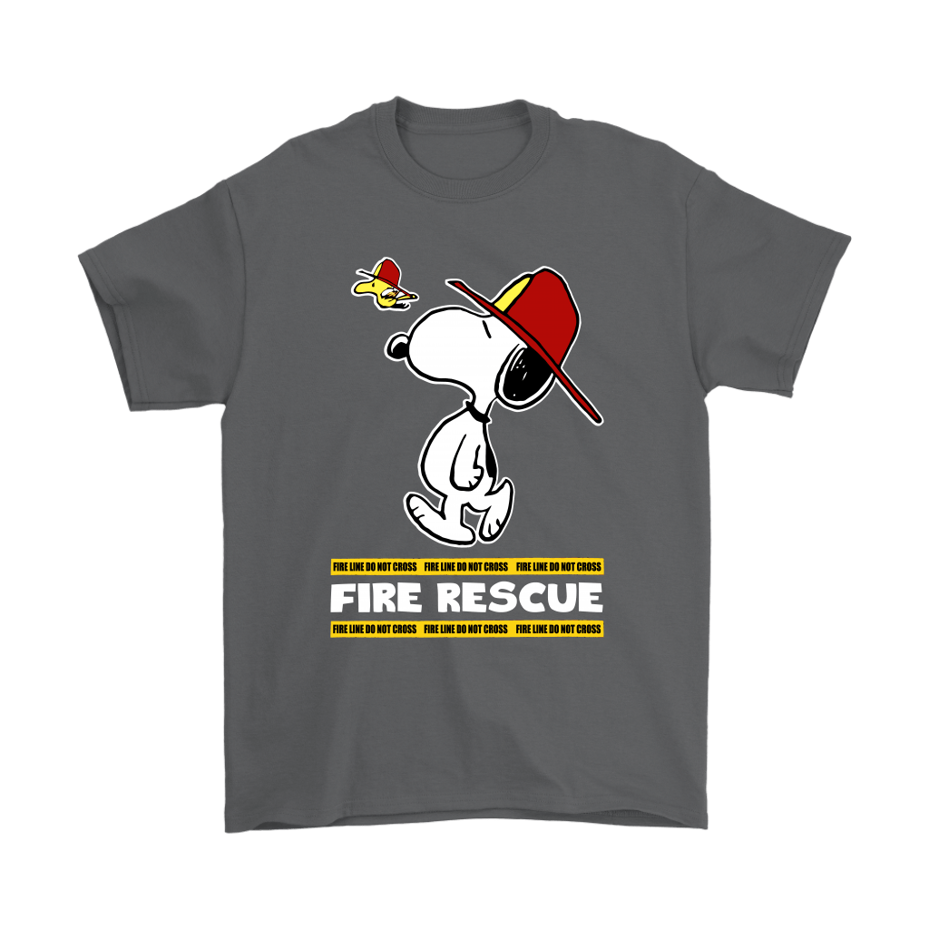 Firefighter Fire Rescue Woodstock Snoopy Shirts 2