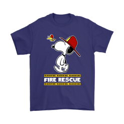 Firefighter Fire Rescue Woodstock Snoopy Shirts 17