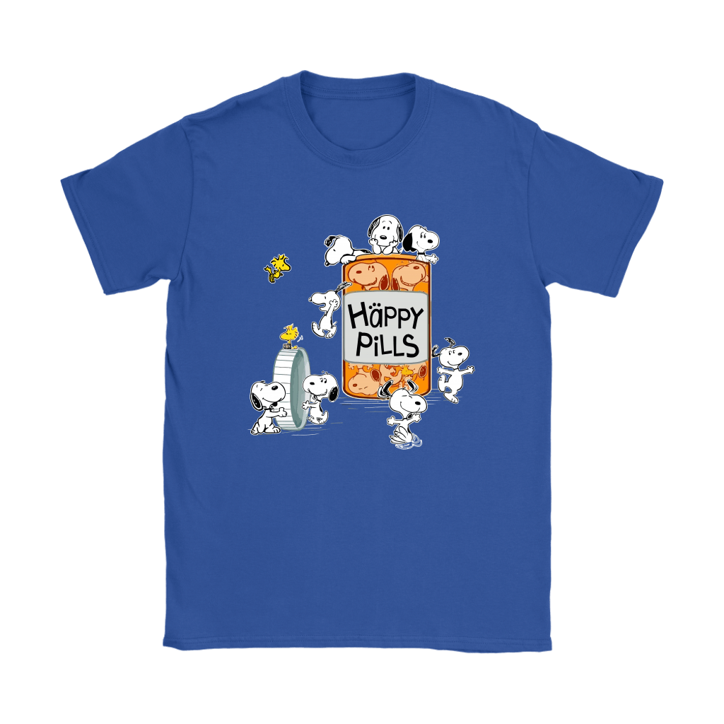 Happy Pills Always Be Happy Woodstock And Snoopy Shirts 12