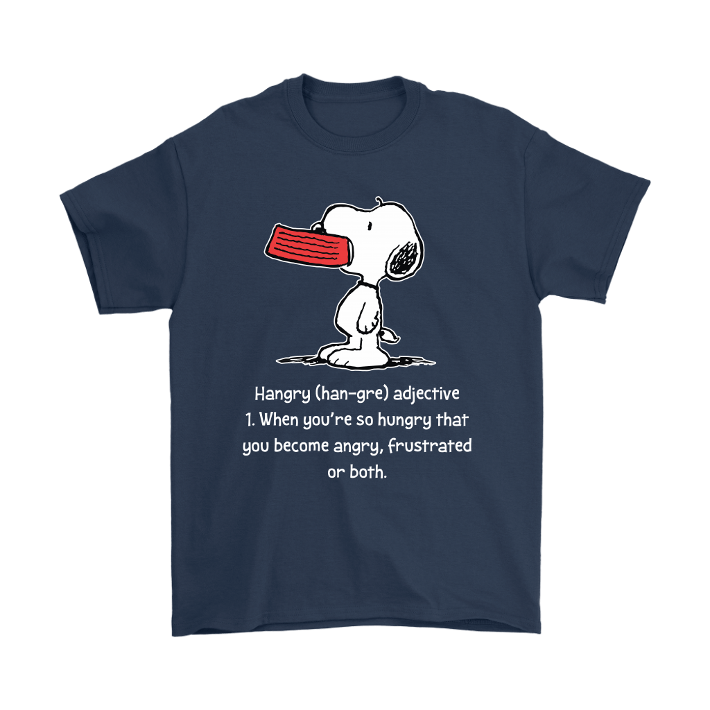 Hungry And Angry Hangry Definition Snoopy Shirts 3