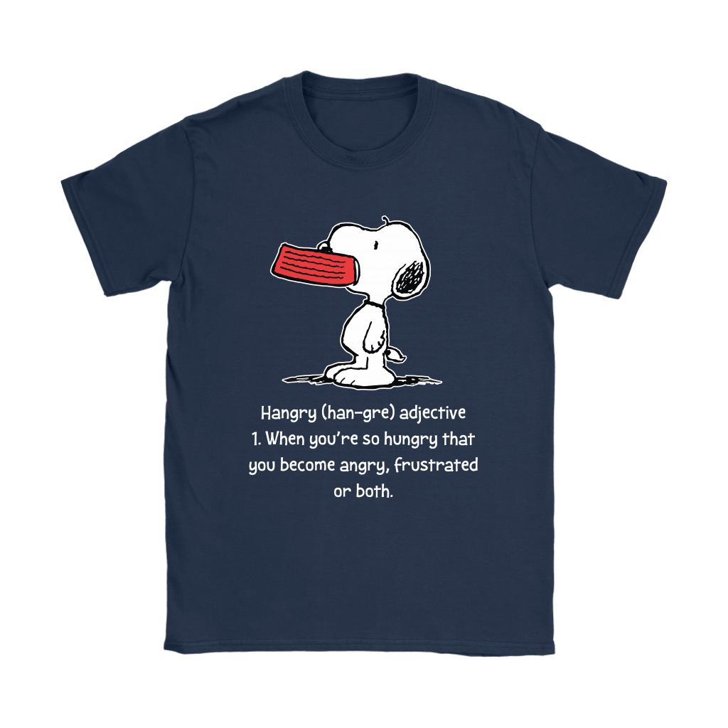 Hungry And Angry Hangry Definition Snoopy Shirts 9