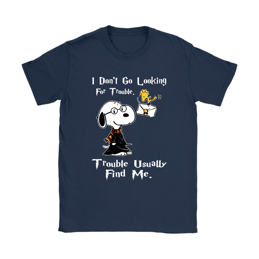 I Don't Go Looking For Trouble Harry Potter x Snoopy Shirts 10