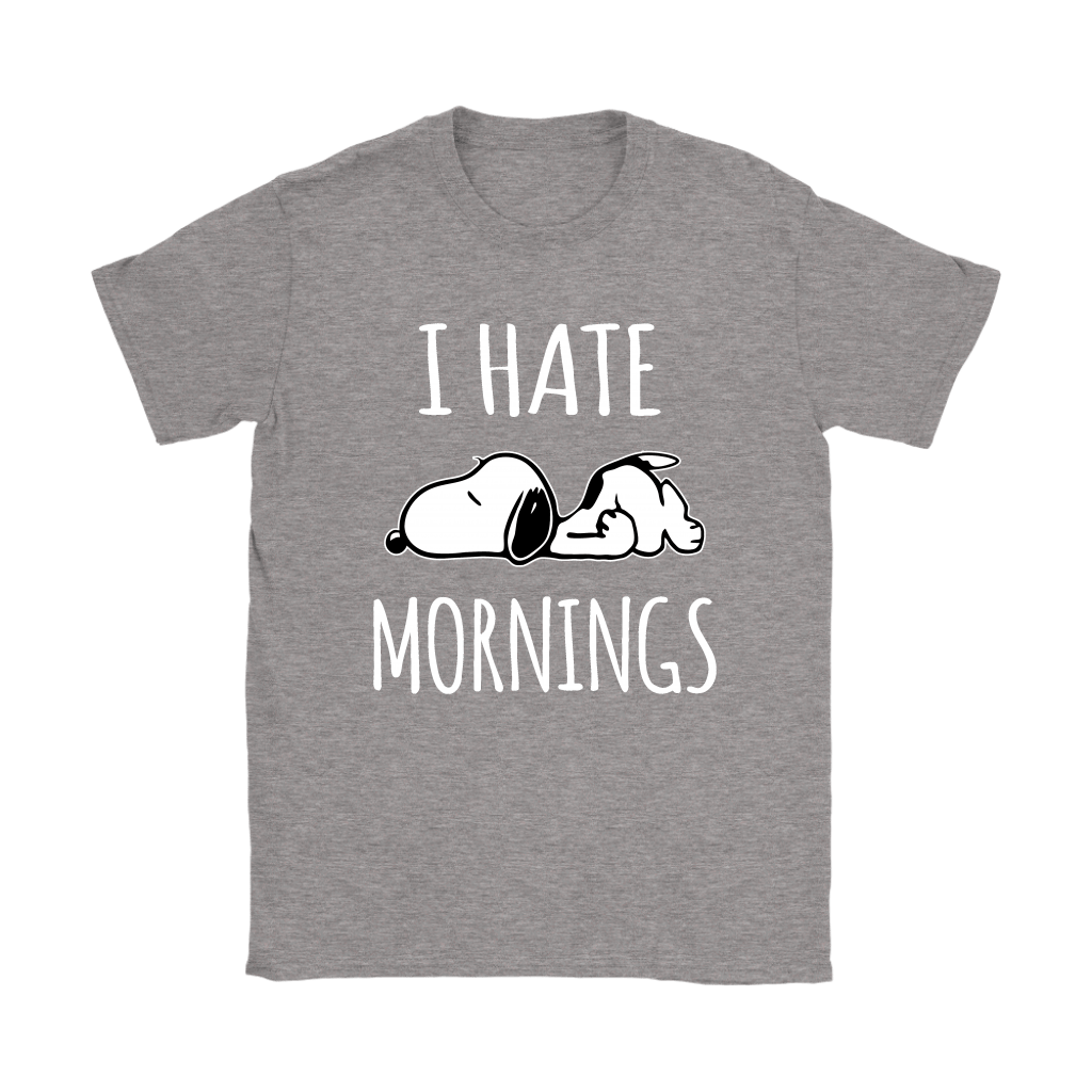 I Hate Morning Tired Snoopy Shirts 13