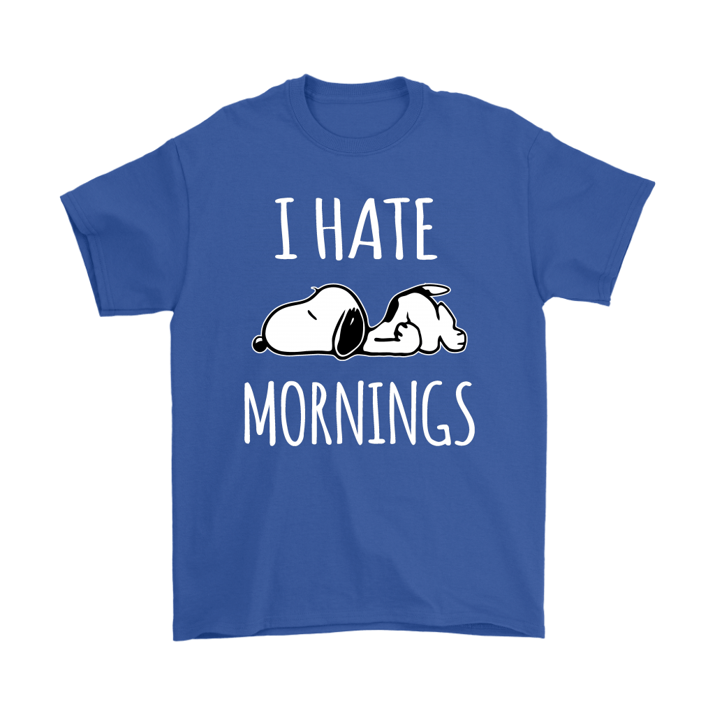 I Hate Morning Tired Snoopy Shirts 5