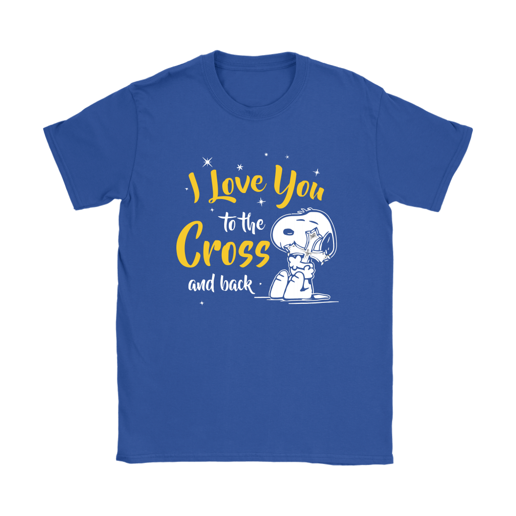 I Love You To The Cross And Back Snoopy Shirts 11