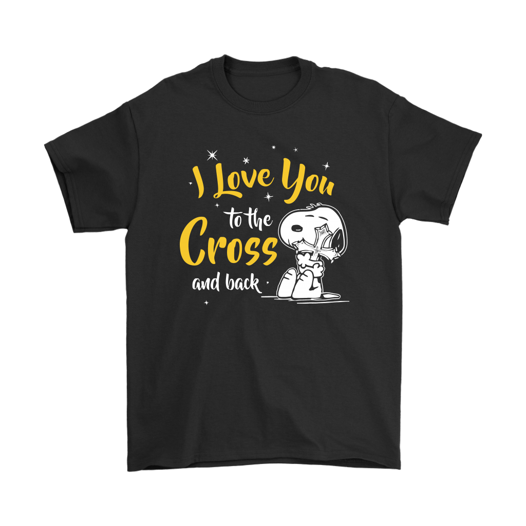 I Love You To The Cross And Back Snoopy Shirts 1