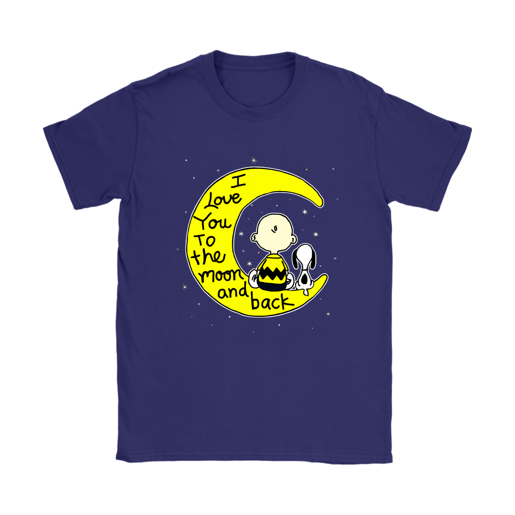 I Love You To The Moon And Back Charlie Brown And Snoopy Shirts 10