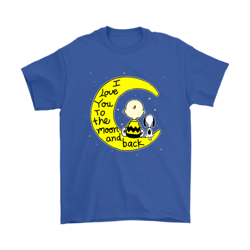 I Love You To The Moon And Back Charlie Brown And Snoopy Shirts 5