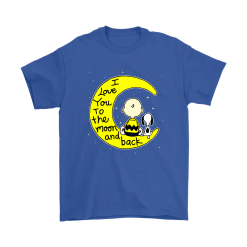 I Love You To The Moon And Back Charlie Brown And Snoopy Shirts 16
