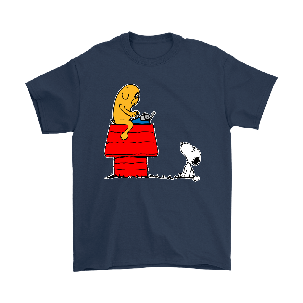 Jake And Snoopy Adventure Time Mashup Shirts 16