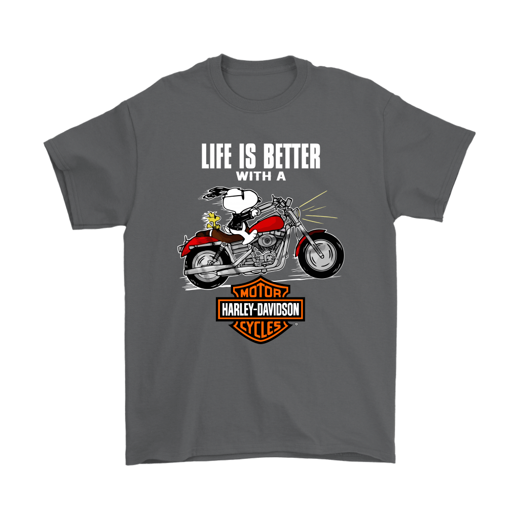 Joe Cool Life Is Better With A Harley Davidson Snoopy Shirts 2
