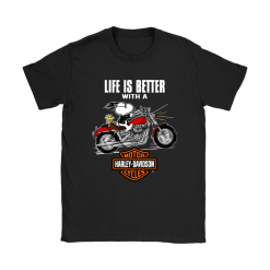 Joe Cool Life Is Better With A Harley Davidson Snoopy Shirts 21
