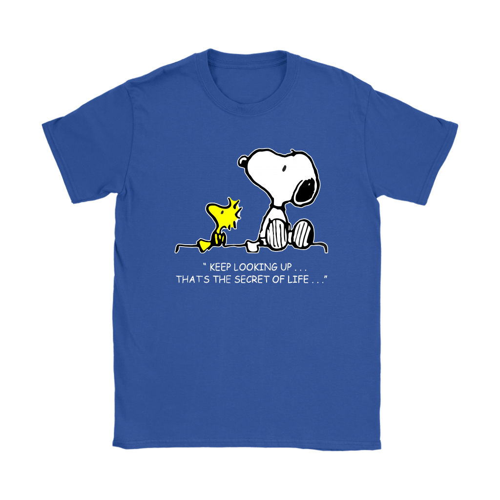 Keep Looking Up Thats The Secret Of Life Snoopy Shirts 13