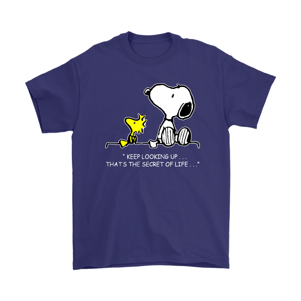 Keep Looking Up Thats The Secret Of Life Snoopy Shirts 4