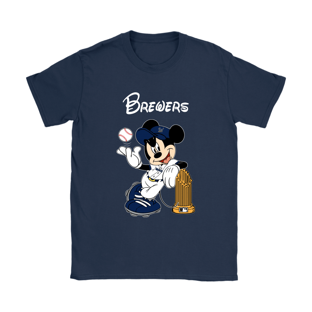 Milwaukee Brewers Mickey Taking The Trophy MLB 2018 Shirts 10