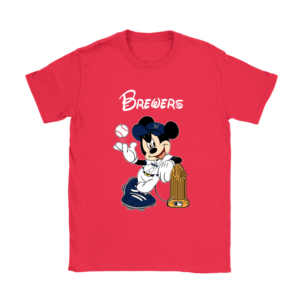 Milwaukee Brewers Mickey Taking The Trophy MLB 2018 Shirts 12