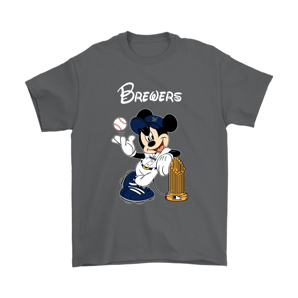 Milwaukee Brewers Mickey Taking The Trophy MLB 2018 Shirts 2