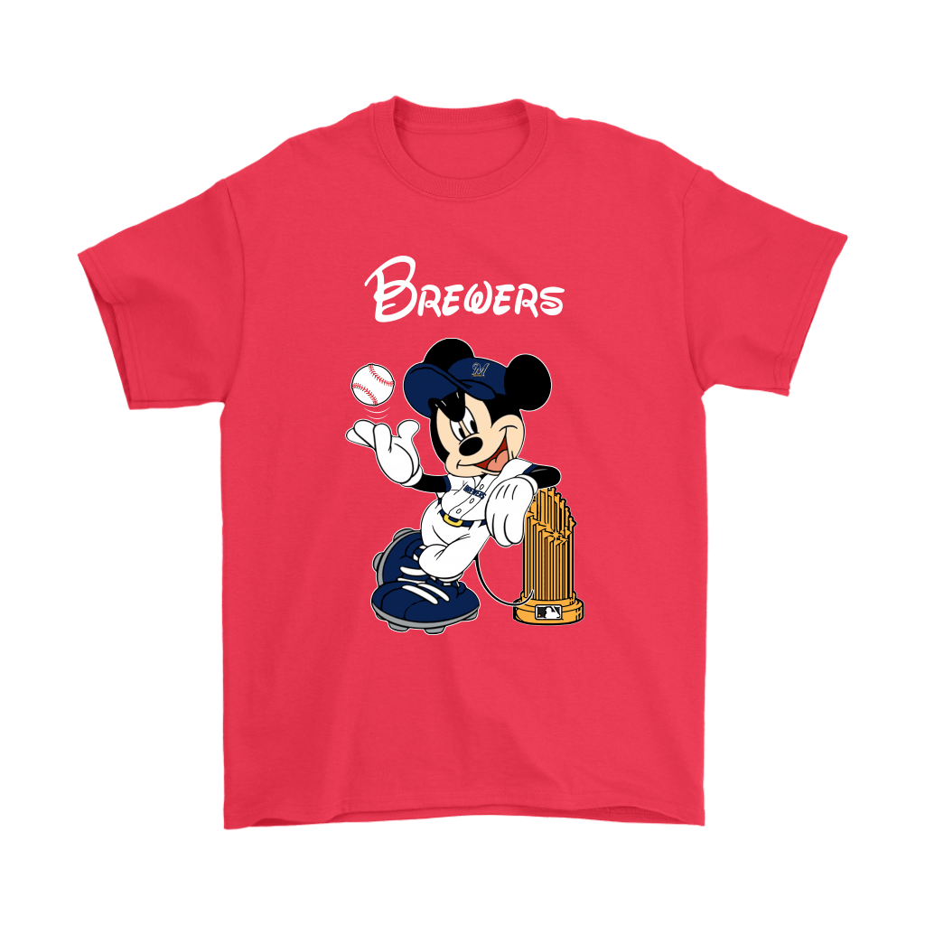Milwaukee Brewers Mickey Taking The Trophy MLB 2018 Shirts 5