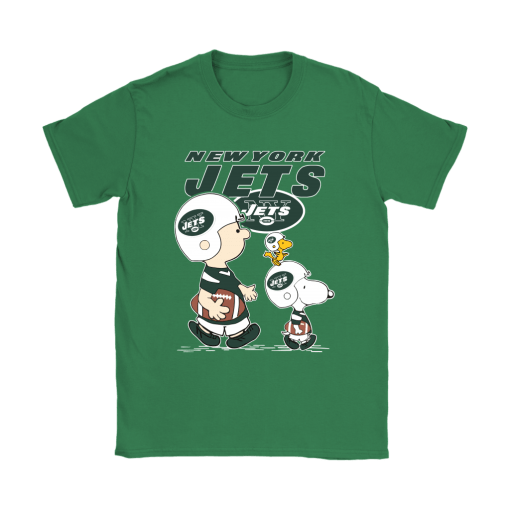 New York Jets Let's Play Football Together Snoopy NFL Shirts 14