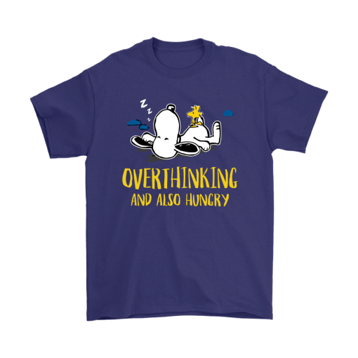 Overthinking And Also Hungry Snoopy Shirts 4