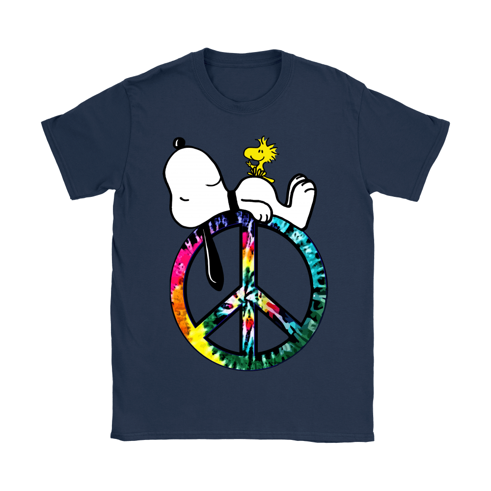 Peace And Love Hippie Style Sleeping Snoopy Shirts 11