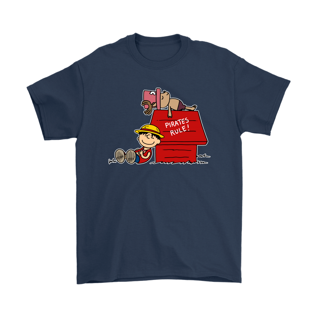 Pirates Rule One Piece Mashup Snoopy Shirts 3