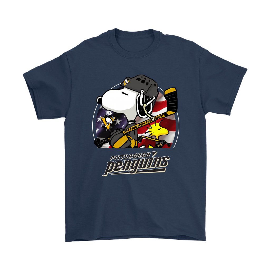 Pittsburgh Penguins Ice Hockey Snoopy And Woodstock NHL Shirts 3