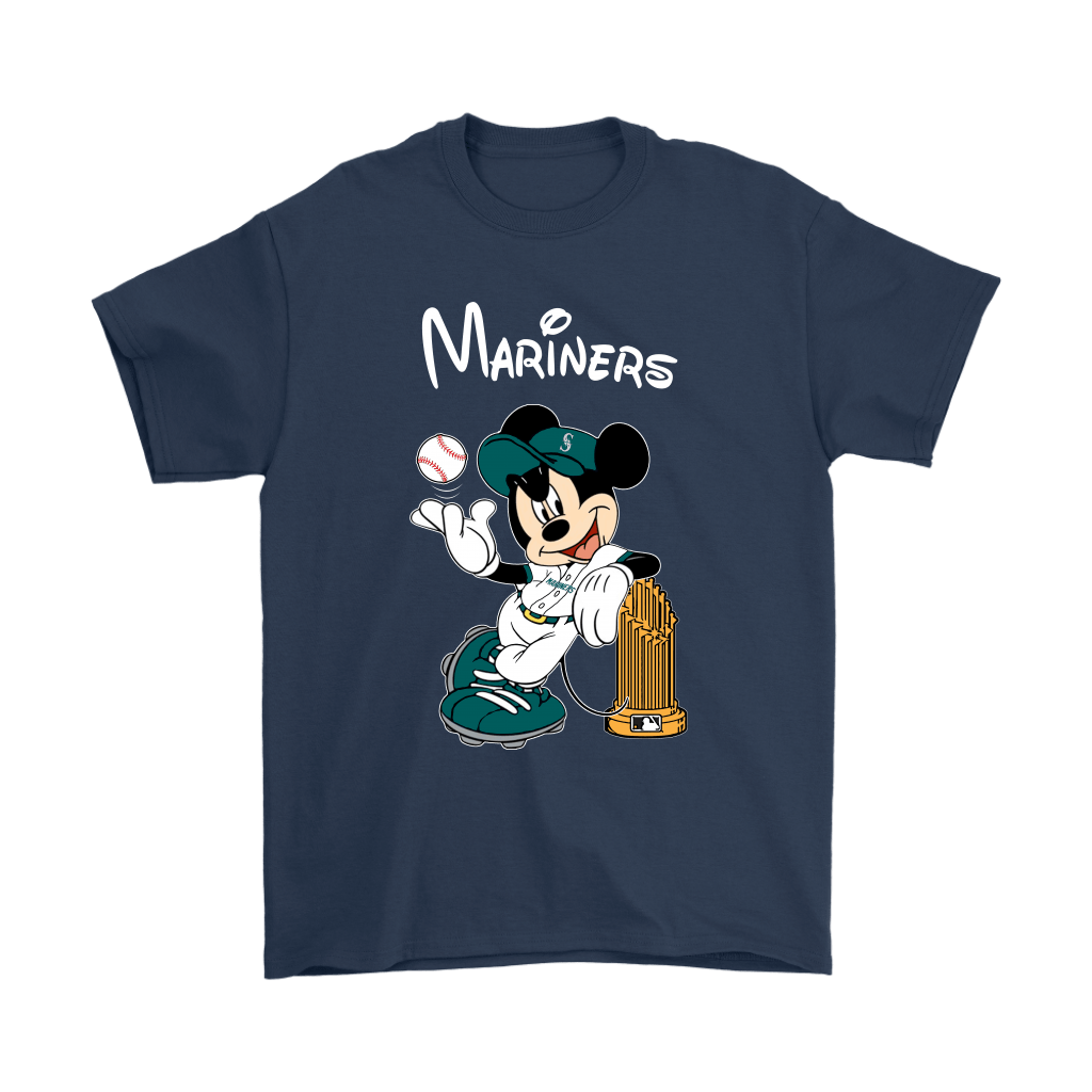 Seattle Mariners Mickey Taking The Trophy MLB 2018 Shirts 3