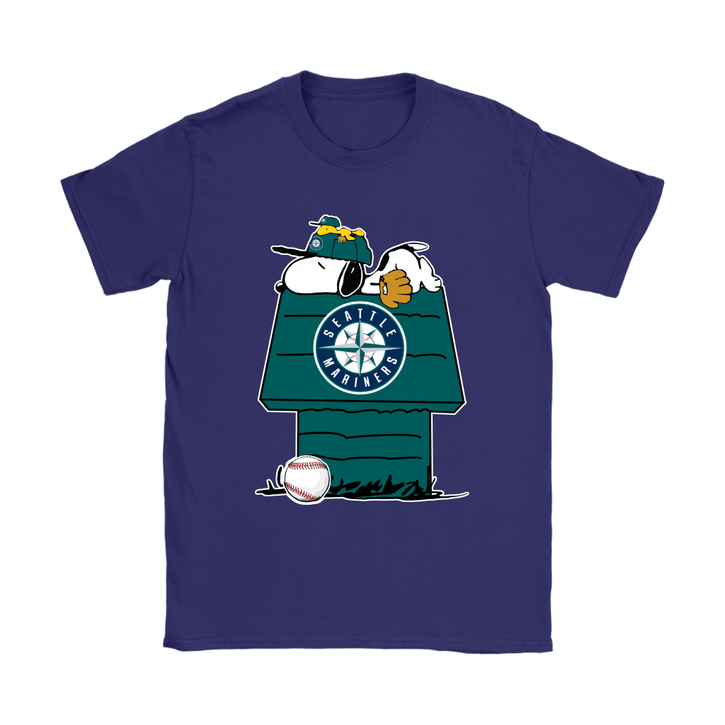 Seattle Mariners Snoopy And Woodstock Resting Together MLB Shirts 11