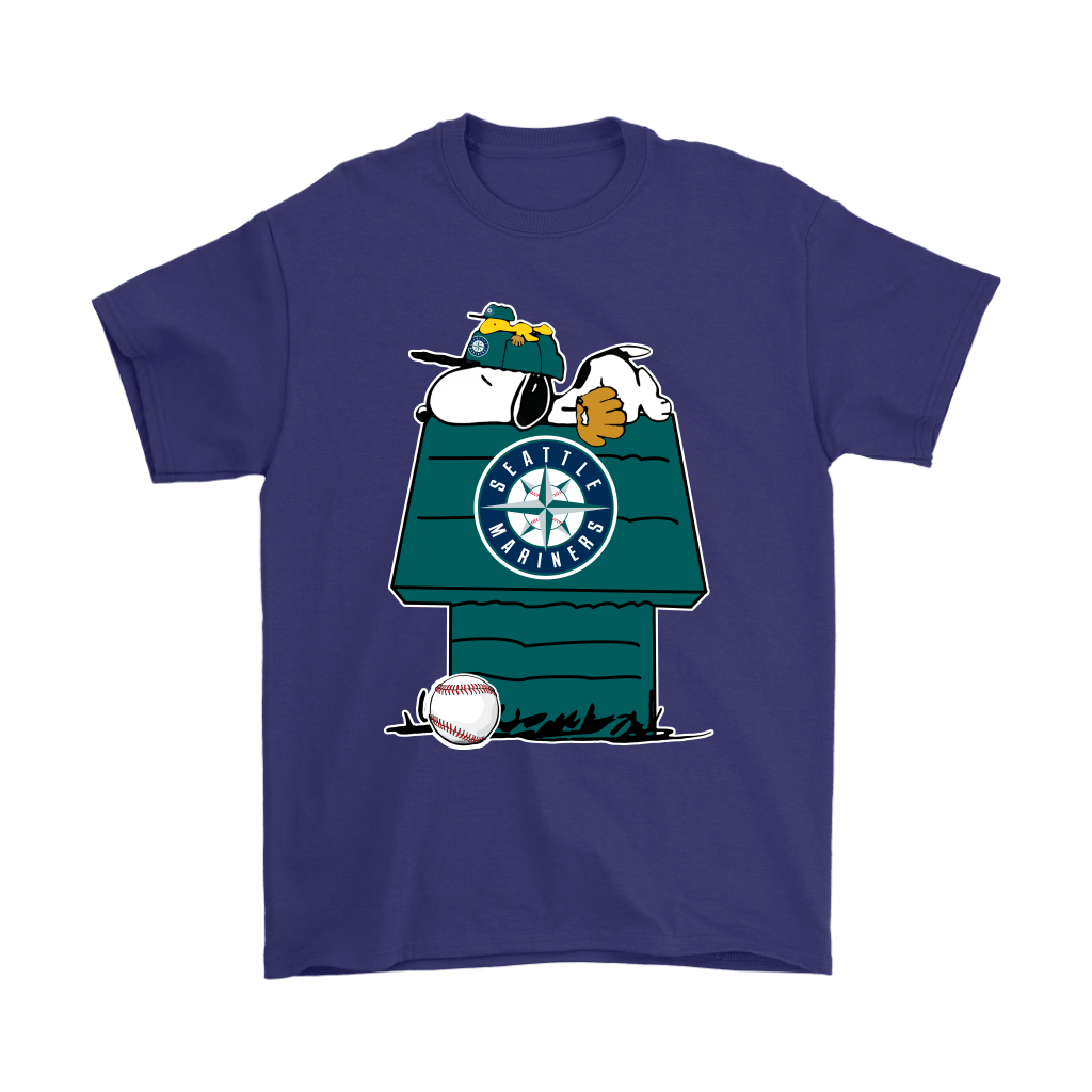 Seattle Mariners Snoopy And Woodstock Resting Together MLB Shirts 4